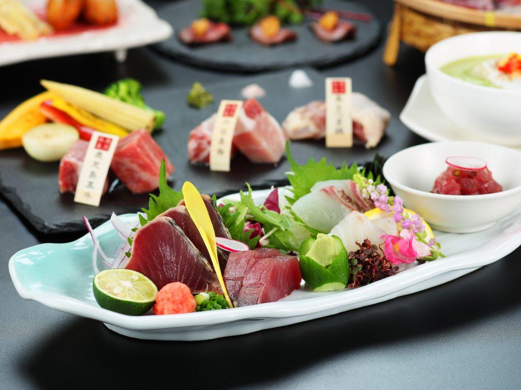 旬の初鰹、桜鯛と薩摩の三大黒肉に舌鼓♪(5月まで)